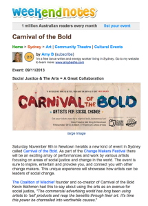 Carnival of the Bold on Weekend Notes